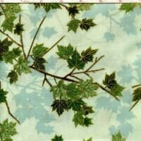 SPRING GREEN MISTY LEAVES Cotton Print by HOFFMAN FABRICS BTY