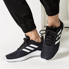 MENS ADIDAS LITE RACER CLN LIGHTWEIGHT BLACK WHITE RUNNING WALKING ATHLETIC SHOE