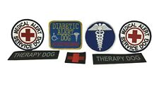 Service Dog Medical Alert Therapy Dog Embroidered Patches Bundle New