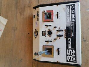 Vintage Fernsteuerung Multiplex Royal 5+2 35mhz