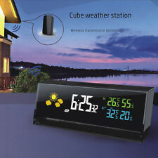 Wireless Digital LED Weather Station Clock Barometer Thermometer Hygrometer