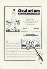 Ocularium Brillen Optiker Hamburg Reklame von 1926 Hamburger Stadttheater