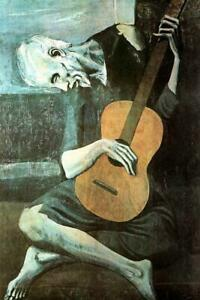 Pablo Picasso The Old Guitarist Art Print Artistic Laminated Poster - 12x18