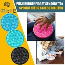 Push bubble sensory fidget toy autism special needs silent classroom WHITE BLACK