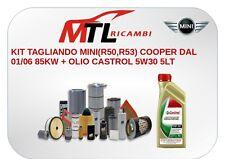 KIT TAGLIANDO MINI(R50,R53) COOPER DAL 01/06 85KW + OLIO CASTROL 5W30 5LT