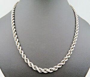 48 cm 835 Silber Kordelkette Halskette (731)