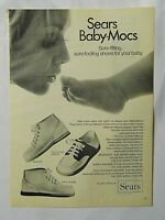 1970 Magazine Advertisement Page For Sears Baby-Mocs Sure-Fitting Shoes Feet Ad