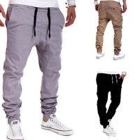 Men Trousers Sweatpants Harem Pants Slacks Casual Jogger Dance Sportwear Baggy~