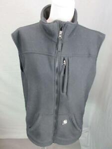 Carhartt Size M Mens Black Full Zip Fleece Lined w/Pockets Performance Vest T171