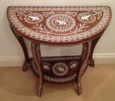 Indian Rosewood White Inlaid Console Table