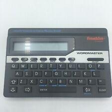 Franklin Wordmaster Deluxe Wm-1055 Electronic Thesaurus