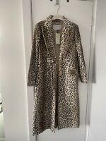 Gabriela Hearst Velvet Leopard / Animal Print Coat As Seen On Lady Gaga & Runway