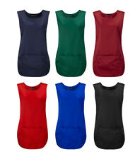 New Black Tabard,Apron Cleaner Waitress Bar Staff Uniform Pocket In Multi Colour