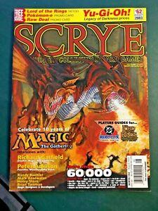 august 2003 SCRYE #62 guide to ccgs Magic 10 years DC heroclix Yu-Gi-Oh!