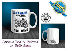 Yamaha YZF R125 Motorbike Personalised Ceramic Mug Gift (MB022)