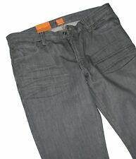Jefe de Hugo 50270733 Black Denim NARANJA 63 MIRACLE SLIM FIT JEANS W32/L34