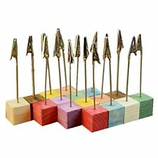 NEW NUOLUX Pine Base Photo Holder Stand Memo Clip  16pcs FREE SHIPPING