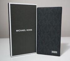 Michael Kors Men's Jet Set Signature Black Chest Pocket Wallet