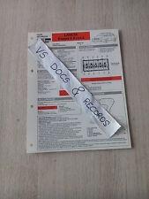 FICHE TECHNIQUE AUTOMOBILE RTA LANCIA KAPPA 2.4 LS/LX  (n°13)