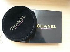 New Chanel Black Velvet Cosmetic Makeup Case/Bag Toiletries Clutch in Box