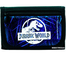Jurassic World Authentic Licensed Canvas Trifold Black Wallet for Children