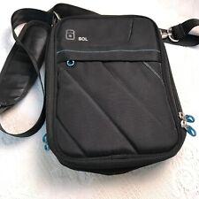 Sol Black Tablet Messenger Bag/Travel Case With Shoulder Strap