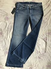 7 SEVEN for all MANKIND Ginger Blue Jeans Stretch W32/L34 x-low waist flare leg