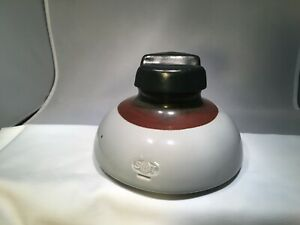 "Vintage Insulator SBT Southern Bell Telephone Ceramic Brown Gray Large 7-1/8"" D"