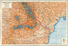 WW1 frente oriental. Rumania Hungría Ucrania Moldova líneas de batalla 1916 1920 Mapa