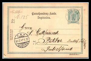 GP GOLDPATH: AUSTRIA POSTAL CARD 1904 _CV681_P25
