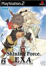 Used PS2 Sega Shining Force EXA SONY PLAYSTATION JAPAN IMPORT