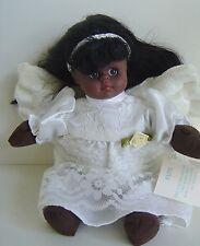 "Angel Dark SKIN Be'An Bean White DRESS Plush WINGS 9"" Collect 1998 FAITH VINTAGE"