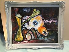 Abstract Oil Painting Framed