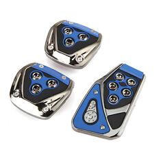 3pcs/set Non-Slip Manual Car Brake Clutch Accelerator Pedals Pads Cover Blue New