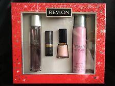 REVLON ~ LOVE HER MADLY ~ 50ml SPRAY + 90ml BODY SPRAY + LIPSTICK + NAIL ENAMEL