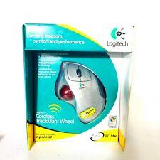 NEW Logitech Cordless Trackman Wheel Mouse