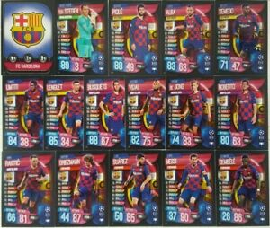 Topps - UEFA Champions League Match Attax 2019/20 BARCELONA Team Card Set 16