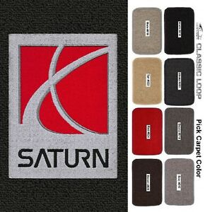 Passenger /& Rear Floor GGBAILEY D4783A-S2A-RD-IS Custom Fit Car Mats for 2002 Saturn Vue Red Oriental Driver