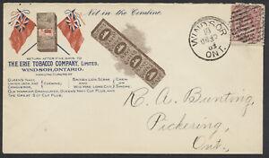 1903 Erie Tobacco Multi-Colour Patriotic Advertising Cover, Windsor Ont
