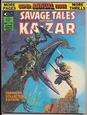 Savage Tales, Annual #1 Ka-Zar, Marvel Comic 1975, Barry Smith, Gil Kane Art