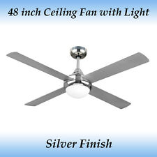 Fias Revolve 48 inch - 1200mm Ceiling Fan with Light in Silver Finish
