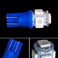 Ultra Blue 5-SMD 2825 168 194 LED Bulbs For Motorcycle Bike Parking Lights 2PCS