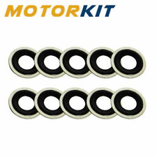 """10 Pack 12mm 1/2"""" Metal Rubber Hole Drain Plug Washer Gaskets 323281-10 14079550"""