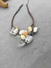 Silpada N2201 Quartz Carved Bone Magnesite, Calcite, Pearls and Silver Necklace