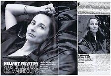 COUPURE DE PRESSE CLIPPING 1995 HELMUT NEWTON photographie les politiques 6 pgs