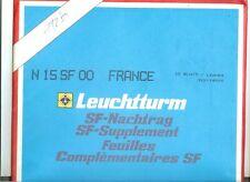 10 FEUILLES LEUCHTTURM SF FRANCE 2000 COMPLET BLOCS SANS LES CARNETS