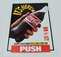 Großer 25 cm Coca-Cola Coke Push Aufkleber Sticker Decal Flasche Bottle Hand