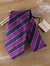 BURBERRY tie silk striped London mens authentic NWT