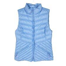 Talbots Women Vest, Baby Blue Down Puffer Vest Zipper Pockets, Size Small