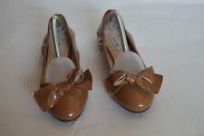 5eec46d2286 MIU MIU Brown patent leather jeweled heel ballet flats size 8.5 US 38.5 EU